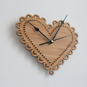 Decorative Heart Clock - children's room accessories