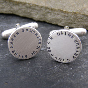 Personalised Disc Cuff Links
