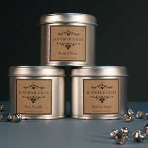 Christmas Scented Crackling Candle - candles & candlesticks