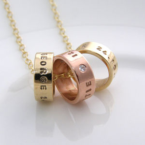 Yellow And Rose Gold Necklace With Diamonds - gifts for her