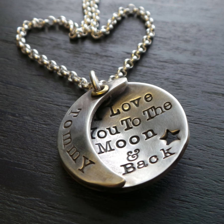 Tbgstore sterling silver i love you to the moon and back mozeypictures Choice Image