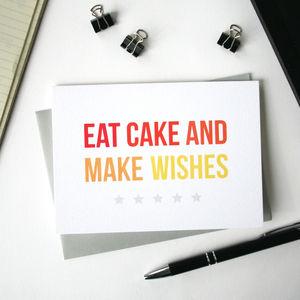 Make Wishes Birthday Card - birthday cards