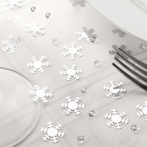 Christmas Silver Snowflake And Diamond Table Confetti - table decorations