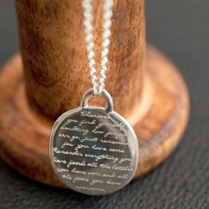 Silver Quote Pendant 'Whenever…' - gifts £50 - £100 for her