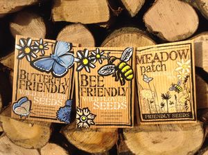 Trio Pack Of Bee, Butterfly And Meadow Patch Seeds - gifts for him