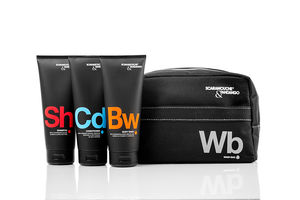 Men's Shower Essentials Grooming Gift Set - wash & toiletry bags