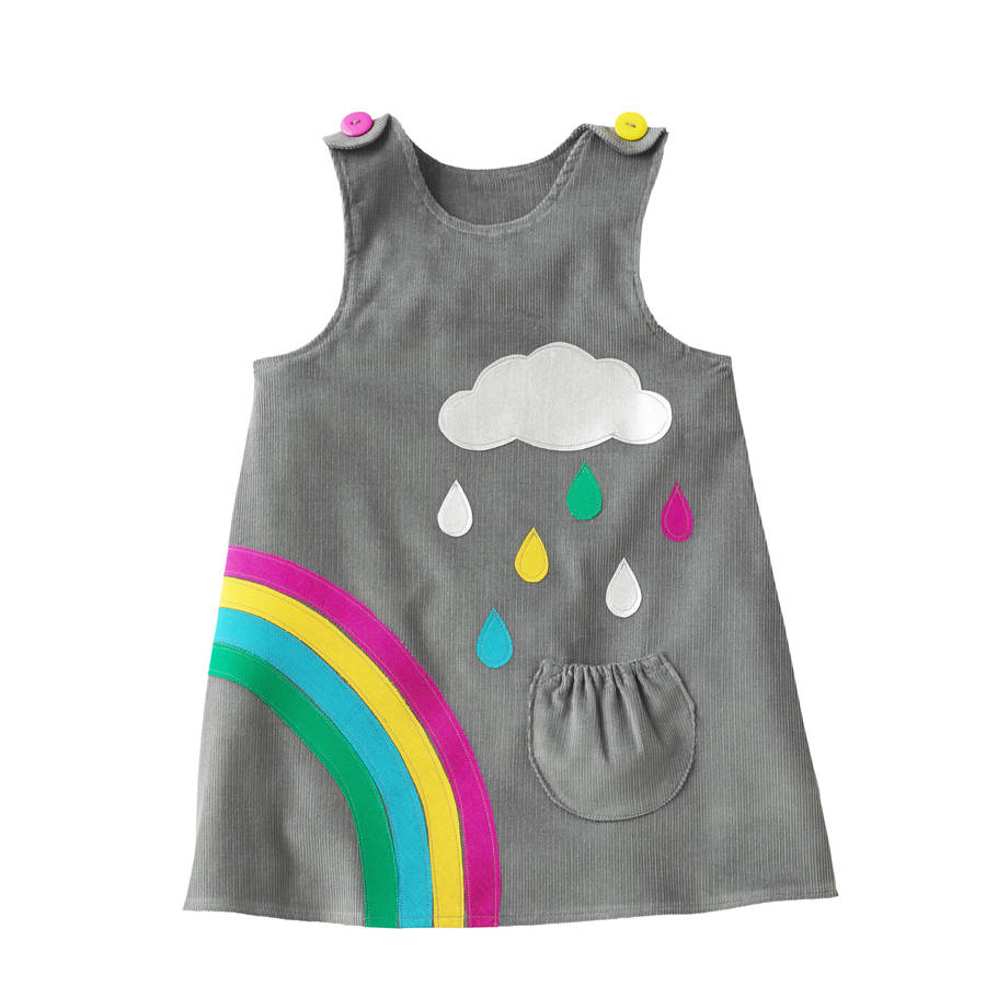 girls rainbow dress by wild things funky little dresses ...