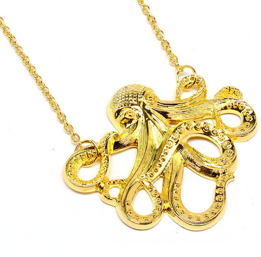 product gold emerald pendant eyes congress with jewelers white karat opal octopus
