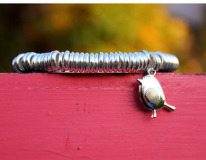 Silver Robin Bracelet