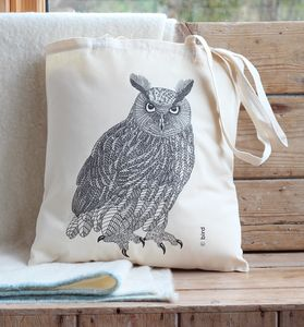 Eagle Owl Cotton Tote Bag