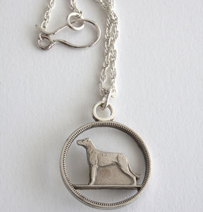 Silver Hound Necklace