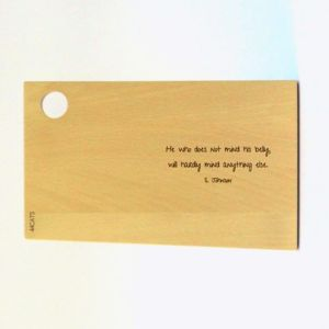 Food Quotes Beech Wood Serving Board