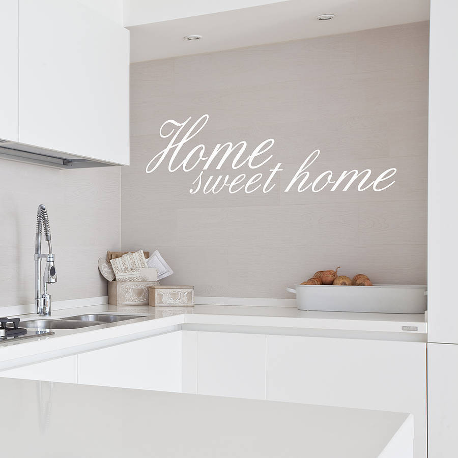 home sweet home vinyl wall sticker by oakdene designs. Black Bedroom Furniture Sets. Home Design Ideas