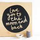 'Moon And Back' Wall Sticker