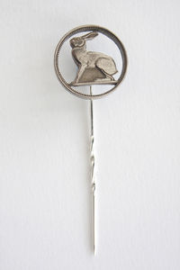 Silver Hare Pin Brooch