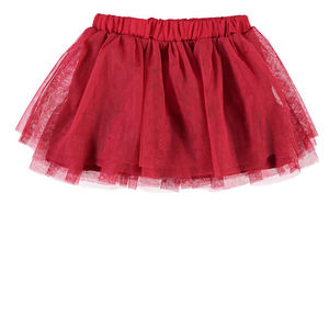 Newborn Red Prisme Tulle Skirt - party wear