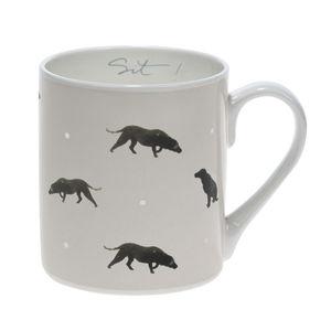 Coloured Labrador 'Sit!' China Mug - mugs
