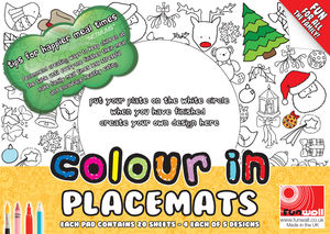 Colour In Placemats - dining room