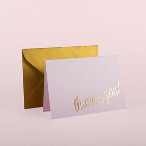 Holly Golightly Thank You Cards Pack Of 10 - thank you cards