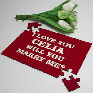 Personalised Jigsaw 'Will You Marry Me'