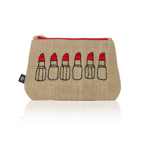 Sparky Jute Make Up Bag - new in home