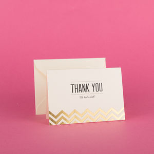 Modern Metallics Thank You Cards Pack Of 10 - party invitations