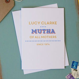 Personalised 'Mutha Of All Mothers' Card - shop by category
