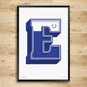 Everton F.C. Typography Posters, Limited Edition