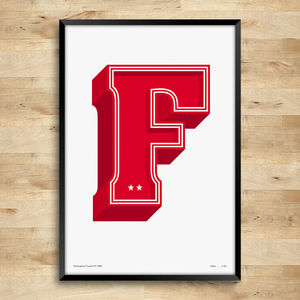 Nottingham Forest Typography Posters, Limited Edition