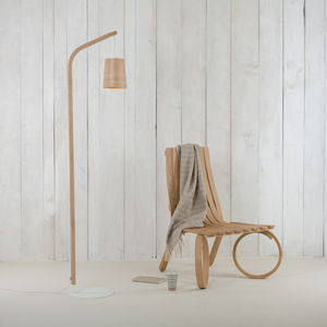 Mullion Light Wood Floor Lamp - lighting