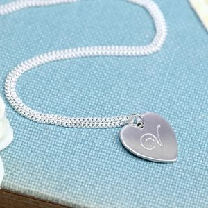 Personalised Heart Necklace With Engraved Initial - necklaces & pendants