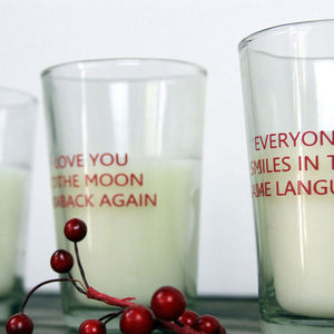 Set Of Three Love Candles