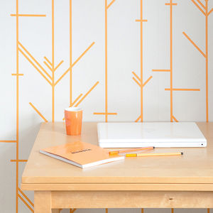 Stitch Geometric Wallpaper - soft colour pop