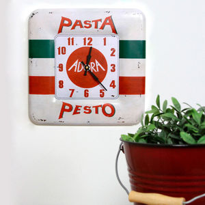 Trattoria Wall Clock - dining room