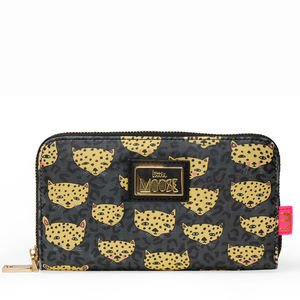 Illustrated Leopard Print Wallet - purses