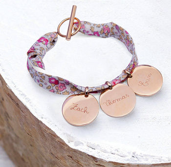 Mother's Personalised Liberty Charm Bracelet