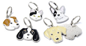 Engraved Breed Dog ID Tag - pet tags & charms