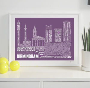 Birmingham Typography Print - prints & art sale