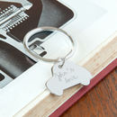 Personalised Sterling Silver Car Key Ring