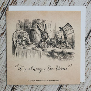 Alice In Wonderland 'Tea Time' Card - all purpose cards, postcards & notelets