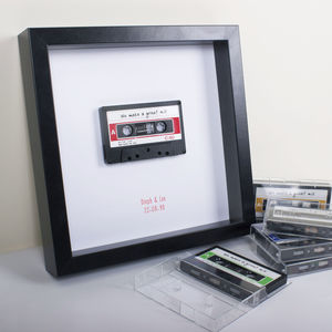 Personalised Framed Retro Cassette Artwork