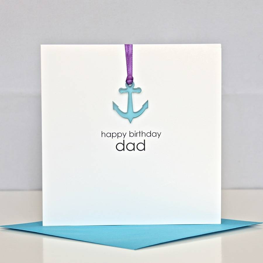 Happy Birthday Dad Greeting Card By The Cornish Card Company