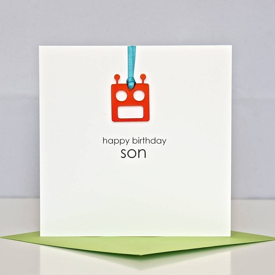 Happy Birthday Son Greeting Card By The Cornish Card Company