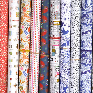 Mixed Pack Of Five Wrapping Papers