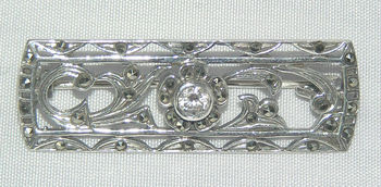 Sterling Silver Gem Set Brooch