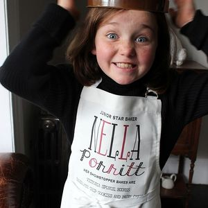 Personalised Childrens 'Typographic' Apron - children's cooking