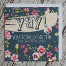 'Yay!' Congratulations Card