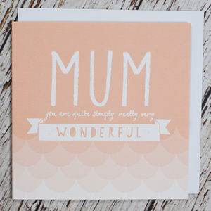 'Simply Wonderful' Mum Birthday Card - mother's day cards