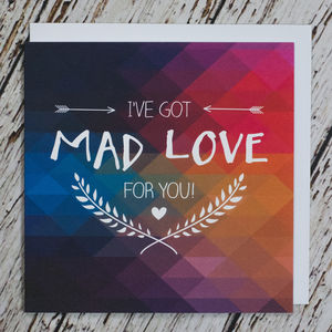 'Mad Love' Anniversary Card - weddings sale