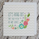 'Let's Hang Out' Valentine's And Engagement Card